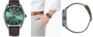 Citizen Citizen Eco-Drive Men's Star Wars Dagobah Black Leather Strap Watch 42mm, A Limited Edition