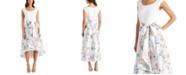 R & M Richards Floral-Print High-Low Dress