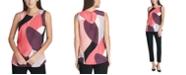 DKNY Sleeveless Abstract Top