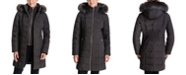Michael Kors Faux-Fur-Trim Hooded Down Coat, Created for Macy's