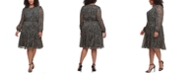 Tommy Hilfiger Plus Size Animal-Print Dress