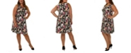 NY Collection Women's Plus Size Sleeveless Dress with Godets
