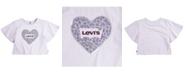 Levi's Toddler Girls Sequin Logo Sparkle Knit T-Shirt