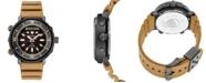 Seiko Men's Solar Analog-Digital Prospex Silicone Strap Watch 47.8mm