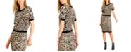 Bar III Animal-Print Jacquard Sweater, Created for Macy's