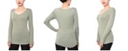 Aveto Juniors' V-Neck Long-Sleeved Top