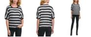 DKNY Striped Lurex Sweater