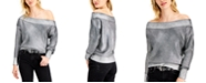Bar III Coated Off-The-Shoulder Sweater, Created for Macy's