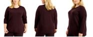Eileen Fisher Plus Size Crewneck Tunic Sweater