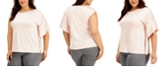 Alfani Plus Size One-Shoulder Flutter-Sleeve Top, Created for Macy's