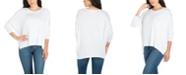 24seven Comfort Apparel Women's Oversized Long Sleeve Dolman Top