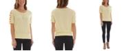 BCX Juniors' Lattice Short Sleeve Top