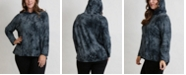COIN 1804 Women's Plus Size Cozy Tie Dye Hoodie