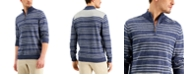 Club Room Men's Low Tide Striped Quarter-Zip Sweater, Created for Macy's