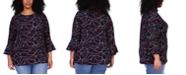 Michael Kors Plus Size Flutter Sleeve Top