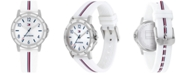 Tommy Hilfiger Kid's White Silicone Strap Watch 34mm, Created for Macy's