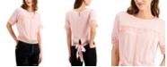Self Esteem Juniors' Lace-Trim Tie-Back Top