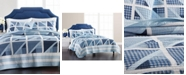 Martha Stewart Collection Sailboat Yarn Dye Patchwork 100% Cotton Twin Quilt, Created for Macy's