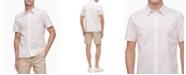 Calvin Klein Men's Short Sleeve Stretch Cotton Stripe Shirt