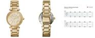 Michael Kors Women's Chronograph Mini Parker Gold-Tone Stainless Steel Bracelet Watch 33mm MK6056