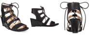 White Mountain Gillis Lace-Up Wedge Sandals