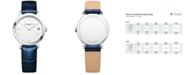 Baume & Mercier Women's Swiss Classima Blue Leather Strap Watch 31mm M0A10353