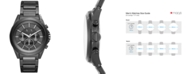 A|X Armani Exchange Men's Chronograph Black Stainless Steel Bracelet Watch 44mm AX2601