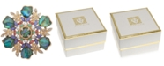 Anne Klein Gold-Tone Multi-Stone & Imitation Pearl Cluster Pin, Created for Macy's