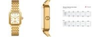 Tory Burch Women's Robinson Gold-Tone Stainless Steel Bracelet Watch 27x29mm