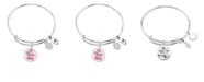 "Unwritten ""Be Youtiful, Be Your Own Kind of Beautiful"" Bangle Bracelet Silver Plated Charms"