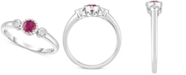Macy's Certified Ruby (3/8 ct. t.w.) & Diamond Accent Ring in 14k White Gold
