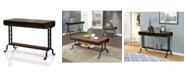 Furniture of America Morton Antique Oak Sofa Table