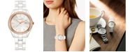 Rado Women's Swiss HyperChrome Diamond (3/8 ct. t.w.) White High-Tech Ceramic Bracelet Watch 36mm