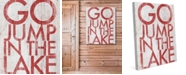 "Creative Gallery Go Jump The Lake 24"" X 36"" Canvas Wall Art Print"
