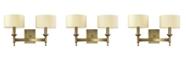 ELK Lighting Pembroke 2-Light Sconce in Brushed Antique Brass