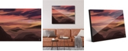 """Creative Gallery Watercolor Mountains - Orange Abstract Landscape 20"""" x 24"""" Acrylic Wall Art Print"""