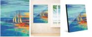 "Creative Gallery Glistening Amber Sails 16"" x 20"" Acrylic Wall Art Print"