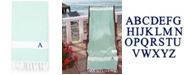 Linum Home Personalized Diamond Pestemal Soft Aqua Beach Towel