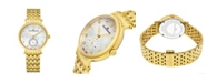 Stuhrling Alexander Watch A201B-02, Ladies Quartz Small-Second Watch with Yellow Gold Tone Stainless Steel Case on Yellow Gold Tone Stainless Steel Bracelet