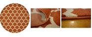 Bridgeport Home Arbor Arb1 Light Terracotta 8' x 8' Round Area Rug