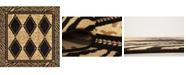 Bridgeport Home Maasai Mss6 Light Brown 6' x 6' Square Area Rug