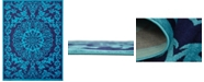 Bridgeport Home Politan Pol2 Turquoise 9' x 12' Area Rug