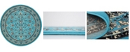 Bridgeport Home Arnav Arn1 Turquoise 8' x 8' Round Area Rug