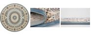 Bridgeport Home Zara Zar9 Blue 10' x 10' Round Area Rug