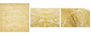 "Bridgeport Home Wisdom Wis3 Yellow 8' 4"" x 8' 4"" Square Area Rug"