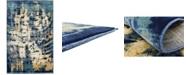 Bridgeport Home Marblesea Mrb5 Navy Blue 5' x 8' Area Rug