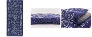 """Bridgeport Home Fazil Shag Faz1 Navy Blue 2' 7"""" x 6' Runner Area Rug"""