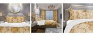 Design Art Designart 'Damask Pattern' Mid-Century Modern Duvet Cover Set - Queen