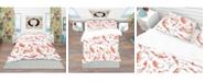 Design Art Designart 'Chinese Pattern With Rainbow Carps' Oriental Duvet Cover Set - Queen