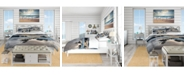 Design Art Designart 'Beautiful Porthcothan Bay' Coastal Duvet Cover Set - Twin